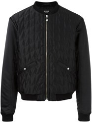 Versus Quilted Bomber Jacket Black
