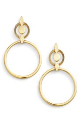 Badgley Mischka Women's Geometric Drop Earrings Gold