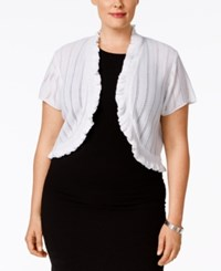 Ny Collection Plus Size Ruffled Pointelle Bolero