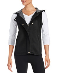 Calvin Klein Hooded Mesh Vest Black