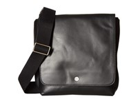 Skagen Gade Leather Small Messenger Black Messenger Bags