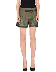 Marithe' F. Girbaud Marithe Francois Girbaud Trousers Shorts Women Military Green