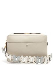 Anya Hindmarch The Stack Leather Shoulder Bag Grey Multi