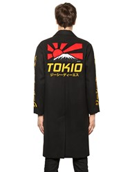 Gcds Tokio Embroidered Cloth Long Coat