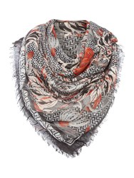 Guess Reversible Square Scarf Black Multi