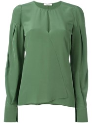 Dorothee Schumacher Keyhole Detail Blouse Green