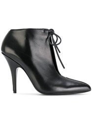 Tom Ford Cutout Pointed Ankle Boots Black