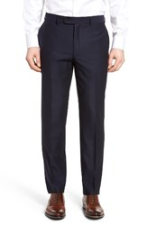 Bensol Men's Big And Tall Pin Dot Wool Trousers Navy