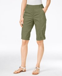 Styleandco. Style Co. Cuffed Bermuda Shorts Only At Macy's Olive Spring