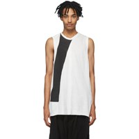 Julius Black And White Yoryu Tank Top