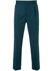 Guild Prime Fitted Tailored Trousers Polyester Polyurethane Rayon Green
