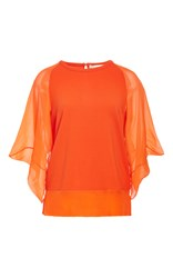 Antonio Berardi Chiffon Blouse Orange