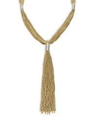 Design Lab Lord And Taylor Multi Row Tassel Necklace Gold