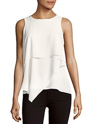 Vince Camuto Asymmetrical Layered Blouse New Ivory
