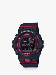 Casio 'S G Shock Connected Bluetooth Resin Strap Watch Black Red Gbd 800 1Aer