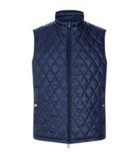 Hackett Prince Of Wales Quilted Gilet Male Navy