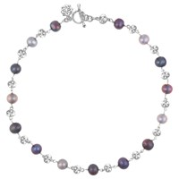 Dower And Hall Freshwater Pearl Nugget Collar Necklace Silver Multi
