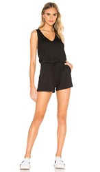 Beyond Yoga Farrah Romper In Black.