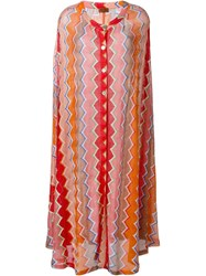 Missoni Knitted Convertible Cape Skirt Multicolour