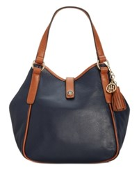 Tommy Hilfiger Hazel Pebble Tassel Shopper Navy