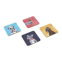 Joules Pawcasso Cuprest Coasters Set Of 4