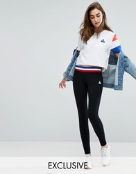 Le Coq Sportif Exclusive To Asos Leggings With Contrast Tricolor Waistband Black