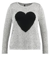 Evans Heart Jumper Cream Beige