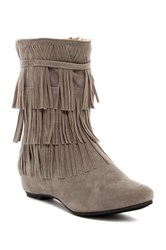 Chase And Chloe Pacific Fringe Boot Gray