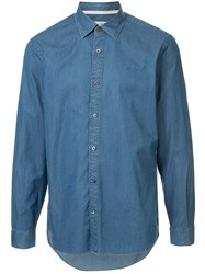 Gieves And Hawkes Button Down Denim Shirt 60