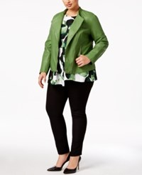 Alfani Plus Size Faux Leather Peplum Jacket Only At Macy's Willow Bough