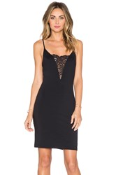 David Lerner Plunging Neckline Dress Black