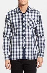 Men's 7 Diamonds 'Rip Tide' Trim Fit Check Woven Shirt