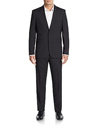Vince Camuto Slim Fit Tonal Striped Wool Suit Black
