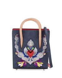 Christian Louboutin Paloma Nano Leather Tote Bag Black