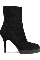 Rick Owens Suede Ankle Boots Black