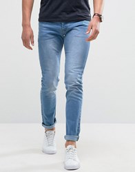 Loyalty And Faith Skinny Fit Jeans With Light Abbrasions In Light Wash Blue