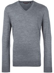 Michael Kors V Neck Jumper Grey