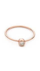 Shashi Solitaire Ring Clear Rose Gold