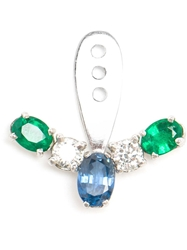 Yvonne Leon 18Kt Gold And Marquise Sapphire Lobe Earring Blue