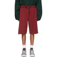 Vetements Red Oversized Inside Out Sweat Shorts