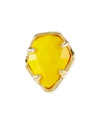 Bright Yellow Opaque Glass Facet Charm Kendra Scott