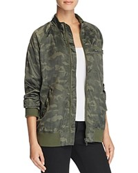 Members Only Satin Camo Boyfriend Bomber Jacket