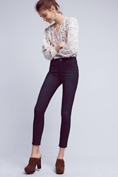 Anthropologie Paige Hoxton Mid Rise Skinny Jeans Dark Denim