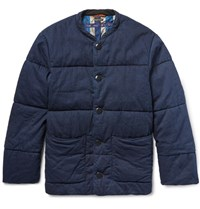 Kapital Quilted Denim Jacket Dark Denim
