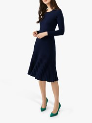 Pure Collection Knitted Dress Navy