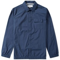 Norse Projects Jens Crisp Cotton Shirt Blue