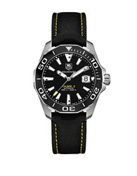 Tag Heuer Way211a. Fc636 Ceramic And Stainless Steel Sportswatch Black