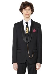 Lords And Fools Satin Lapin Wool Serge Tuxedo Jacket