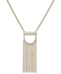Dkny Gold Tone Chain Fringe Pendant Necklace 36 3 Extender Created For Macy's