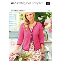 Rico Cotton Dk Women's Cardigan Knitting Pattern 155